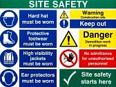 45324927-brightly-colored-building-site-safety-warning-signs